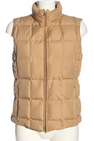 St. emile Quilted Gilet light orange quilting pattern casual look