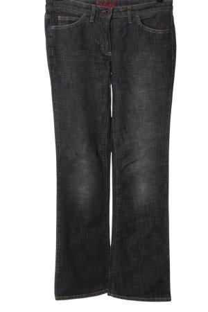 St. emile Jeansy z prostymi nogawkami czarny Melanżowy W stylu casual