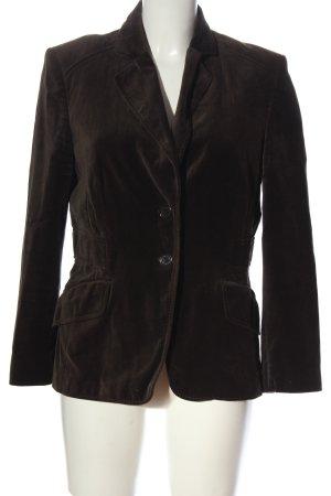 St. emile Blazer in maglia marrone stile professionale