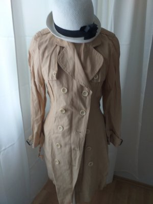 Cappotto corto beige-color cammello