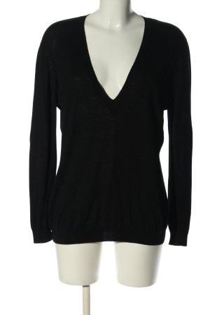 St. emile V-Ausschnitt-Pullover schwarz Casual-Look