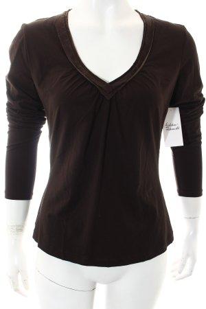 St. emile V-Ausschnitt-Pullover schwarzbraun Casual-Look