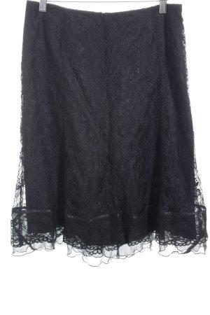St. emile Volantrock schwarz florales Muster Elegant