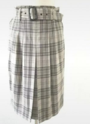 St. emile Wool Skirt light grey-grey