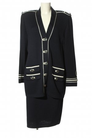 St. John Ladies' Suit black-gold-colored striped pattern business style