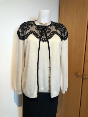 St. John Sweater Twin Set black-pale yellow