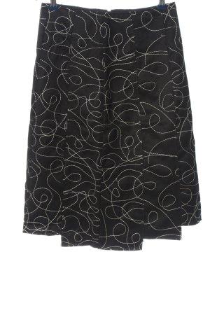St-martins Jupe asymétrique noir-blanc imprimé allover style décontracté