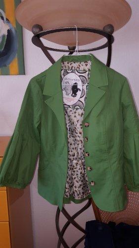 St-martins Korte blazer grasgroen-groen Katoen