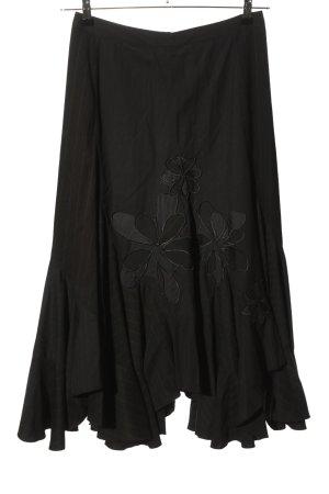 St-martins Jupe évasée noir motif de fleur style décontracté