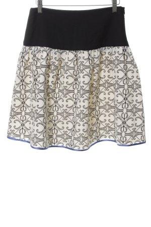 St-martins Glockenrock schwarz-wollweiß abstraktes Muster Casual-Look