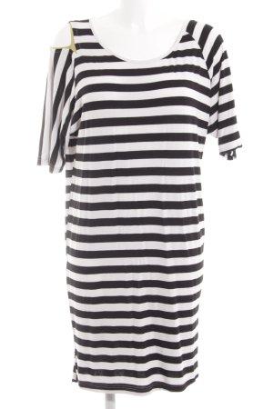 St-martins Jerseykleid weiß-schwarz Streifenmuster schlichter Stil