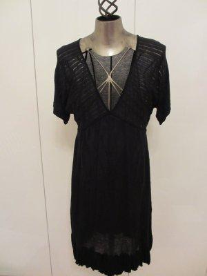 St-martins Robe en maille tricotées noir coton