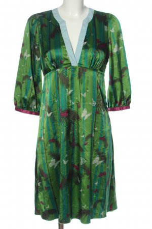 St-martins Longsleeve Dress green-turquoise themed print casual look