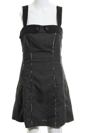 St-martins Minikleid dunkelgrau-schwarz Stoffeinsätze