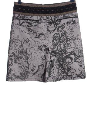 St-martins Minirock hellgrau-schwarz abstraktes Muster Casual-Look