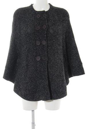 St-martins Poncho en tricot noir-gris foncé gradient de couleur
