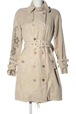 St-martins Trenchcoat blanc cassé-gris clair motif abstrait style décontracté