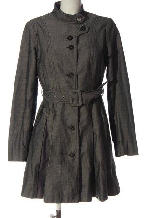 St-martins Between-Seasons-Coat black-natural white weave pattern casual look