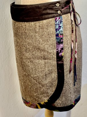 St Martine Wraparound Skirt multicolored