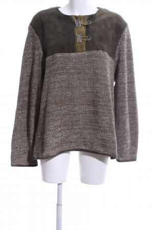 St. Moritz Traditional Jumper brown flecked casual look