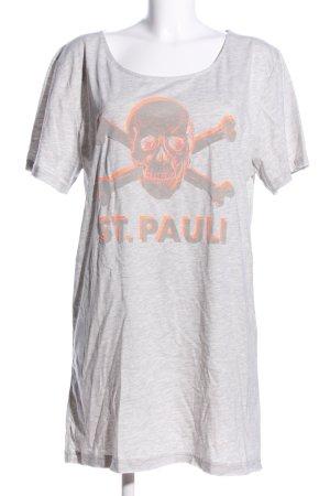 St.Pauli Shirtkleid hellgrau meliert Casual-Look