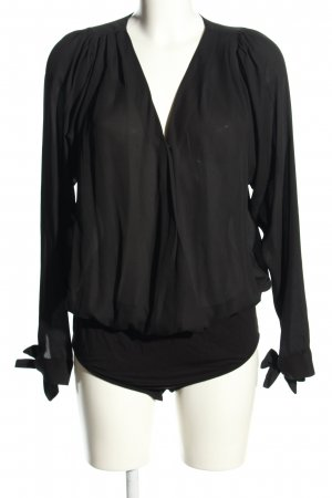 ST. Transparenz-Bluse schwarz Elegant