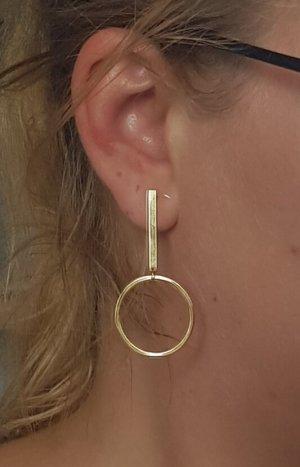 Hand made Gouden oorbellen zilver-goud