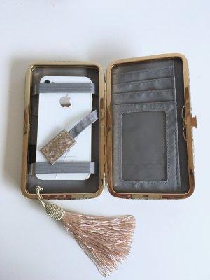 Stabile Mini-Clutch mit Schnappverschluss