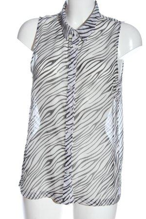 Staccato Blusa bianco-nero motivo animale stile casual