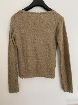 Staccato Cardigan in maglia sabbia-color cammello