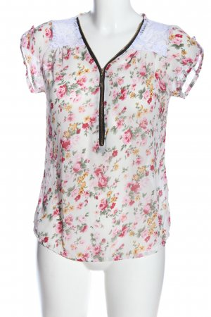 Staccato Short Sleeved Blouse allover print casual look