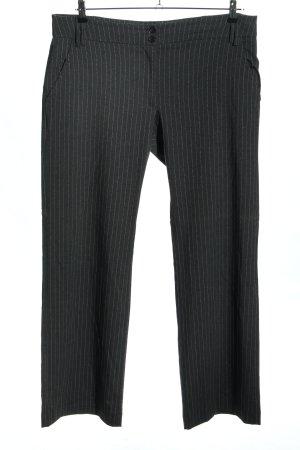 Staccato Pantalone jersey nero motivo a righe stile professionale