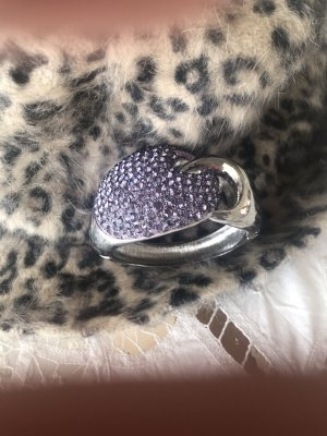 Bracelet de bras argenté-bleu violet