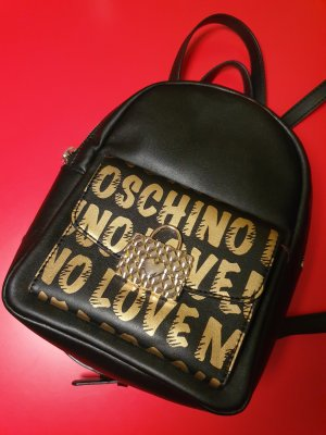 Love Moschino Trekking Backpack black-gold-colored
