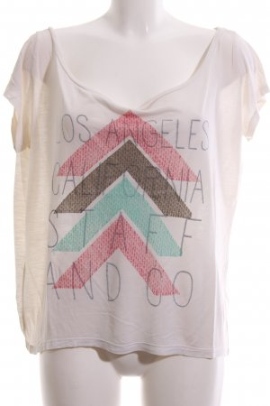 Staff & Co T-Shirt Schriftzug gedruckt Casual-Look