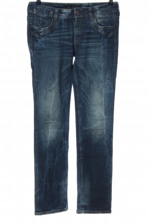Staff Jeans Low Rise jeans blauw casual uitstraling