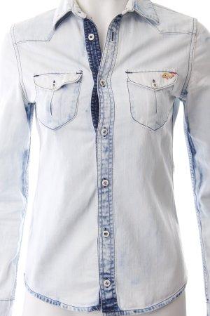 Staff Jeans Jeanshemd hellblau Casual-Look