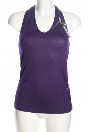 Staff Jeans Halter Top lilac casual look
