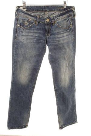 Staff Jeans Straight-Leg Jeans stahlblau Casual-Look