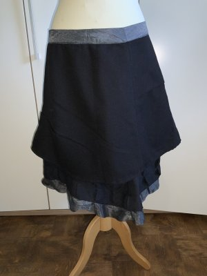 STAFF Asymmetry Skirt black-silver-colored