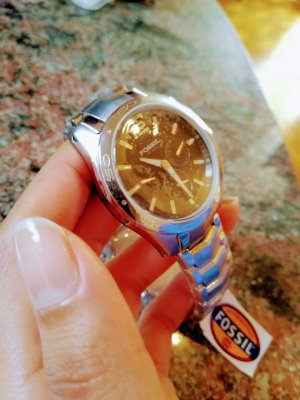 STAINLESS STEEL CASHBACK 10 ATM FOSSIL