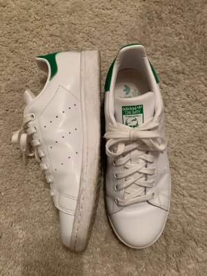 adidas stan smith Basket à lacet blanc-vert forêt