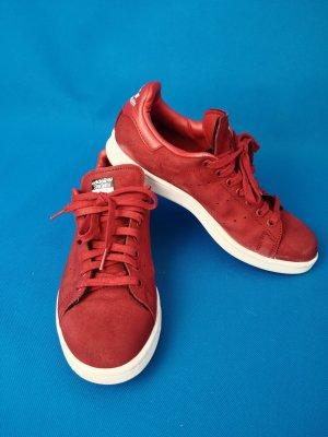 adidas stan smith Basket à lacet blanc-rouge foncé