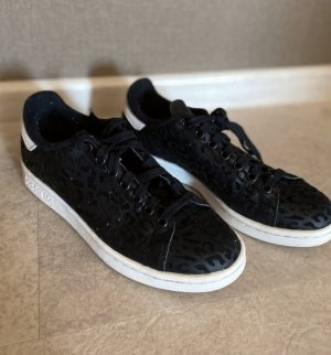 adidas stan smith Lace-Up Sneaker black imitation leather