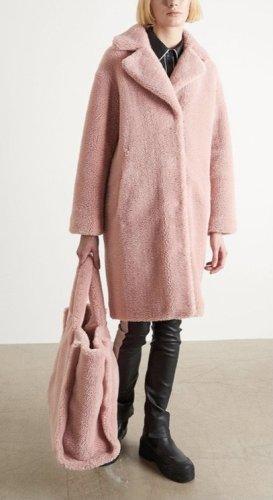 STAND STUDIO Cappotto in eco pelliccia rosa pallido