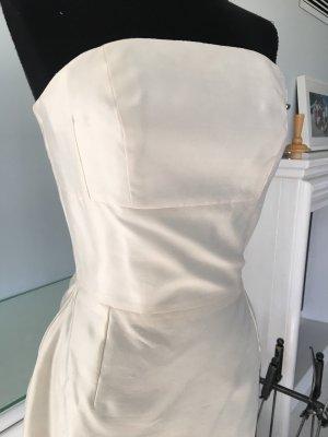 Vestido bustier blanco-blanco puro Seda