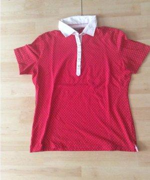 Stanfield PoloShirt arg L rot/ weiß gepunktet