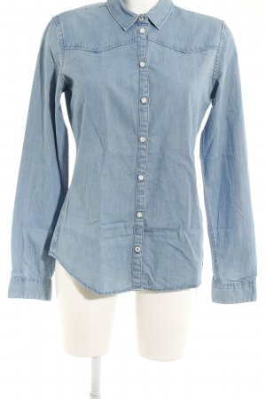 Stanley & Stella Denim Shirt cornflower blue flecked casual look
