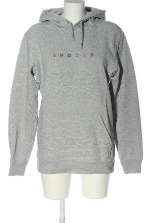 Stanley & Stella Hooded Sweatshirt light grey flecked casual look
