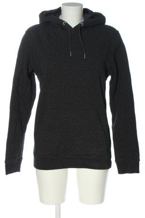 Stanley & Stella Kapuzensweatshirt schwarz meliert Casual-Look